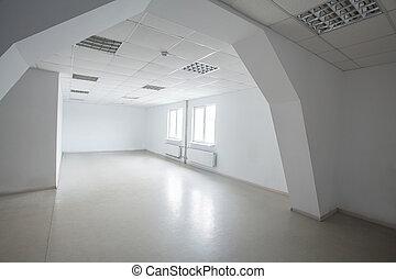 moderno, oficina vacía, habitación