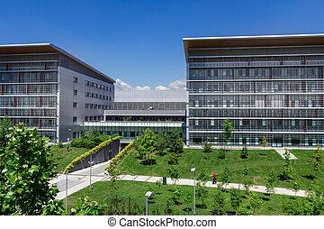 moderno, ospedale, costruzione