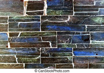moderno, parete, mattone