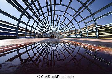 moderno, ponte, architettura