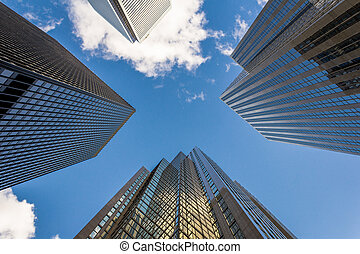 moderno, rascacielos