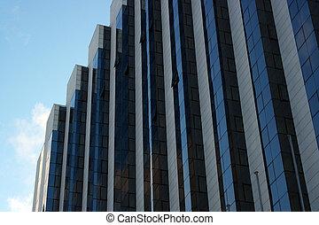 moderno, rispecchiato, costruzione