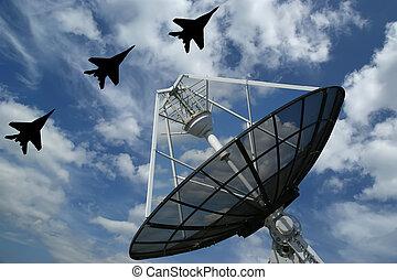 moderno, russo, radar, è, disegnato, e, automatico,...