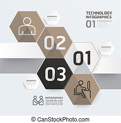 moderno, scatola, infographic, disegno, stile, disposizione, /, sagoma, infographics, disinserimento, minimo, sito web, essere, usato, orizzontale, numerato, grafico, linee, vettore, lattina, bandiere, o
