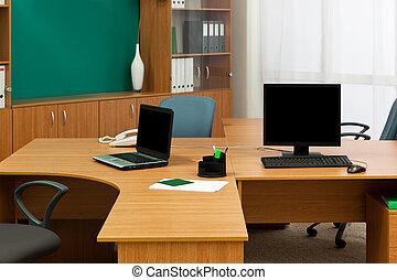 moderno, scrivania ufficio