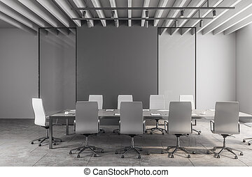 moderno, stanza riunione, con, copyspace