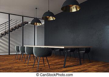 moderno, stanza riunione, copyspace