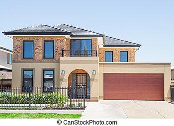 moderno, suburbano, casa