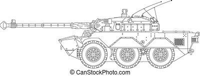 moderno, tanque