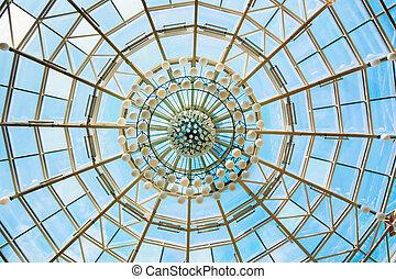 moderno, techo, de, centro comercial, en, minsk, belarus