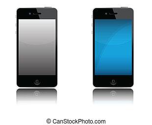 moderno, teléfono celular