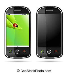 moderno, teléfono móvil
