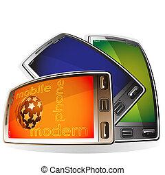moderno, teléfonos móviles