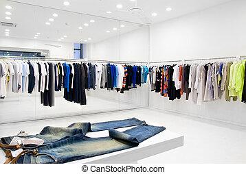 moderno, tienda, interior