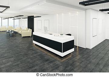 moderno, vestíbulo de la oficina