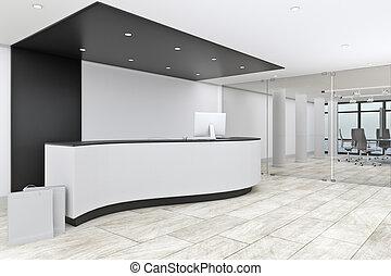 moderno, vestíbulo, oficina