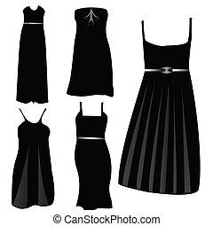 moderno, vestidos, formal