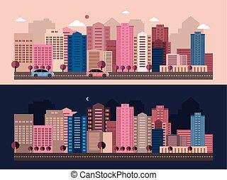 moderno, vida de la ciudad
