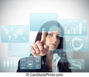moderno, virtuale, schermo