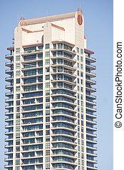modernos, apartamento, ascensão elevada