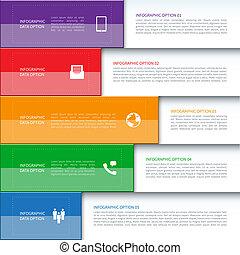 modernos, bandeira, negócio, infographics