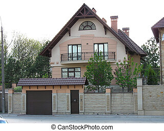 modernos, casa, lar, recentemente, constructed, europeu