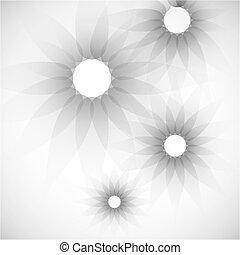 modernos, coloridos, flor, fundo, geométrico