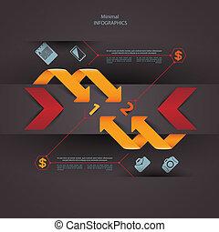 modernos, desenho, modelo, lata, ser, usado, para, infographics