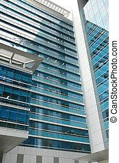 modernos, edifício escritório, 1
