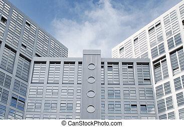 modernos, edifício escritório, em, hamburgo