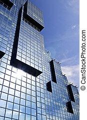 modernos, edifício vidro