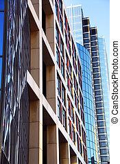 modernos, edifícios escritório