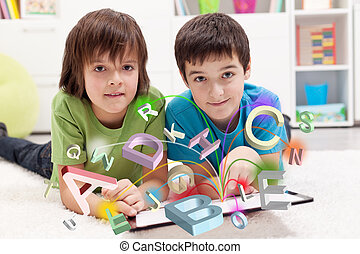 modernos, educação, e, aprendizagem online, possibilidades