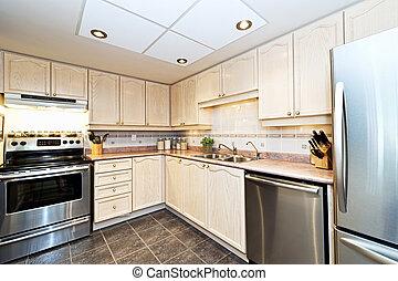 modernos, eletrodomésticos, cozinha