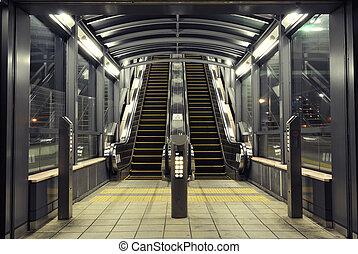 modernos, escadas rolantes
