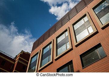 modernos, escritórios, arquitetura
