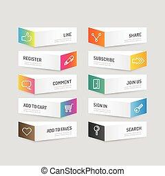 modernos, infographic, desenho, abstratos, esquema, bandeira, site web, ser, usado, workflow, options., esquema, bandeira, ícone, gráfico, illustration., botão, cor, vetorial, lata, social, ou