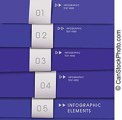 modernos, infographics, opções, banner., vetorial, illustration.