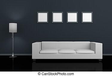 modernos, interior.