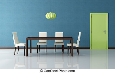 modernos, jantando quarto