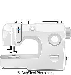 modernos, máquina de costura, vetorial