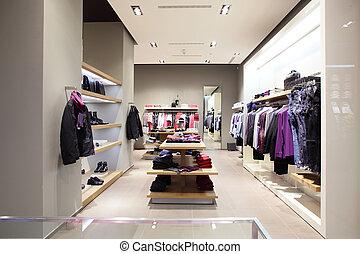 modernos, moda, loja, roupas