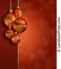 modernos, natal, morno, denominado, decor., vermelho