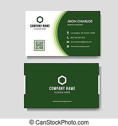 modernos, negócio verde, cartão