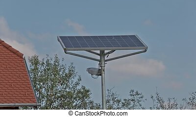 modernos, painel solar