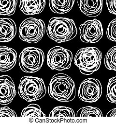 modernos, pattern., seamless, vetorial, trendy, círculo