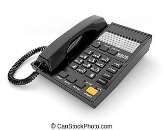 modernos, pretas, telefone escritório
