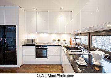 modernos, projetado, cozinha