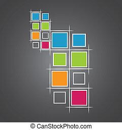 modernos, quadrados