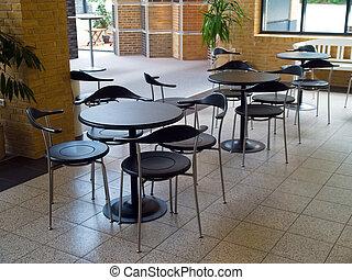 modernos, sala de espera, área, recepção